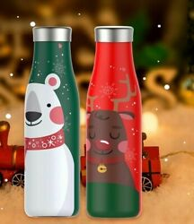 Thermos Couple Kettle 350ml 500ml 710ml Two Color Water Bottle Holiday Cute Gift