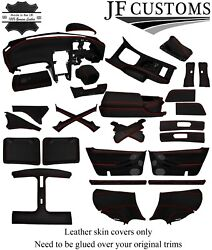 Red Stitch Leather Covers For Nissan 300zx Z32 Full Interior Recovery Kit