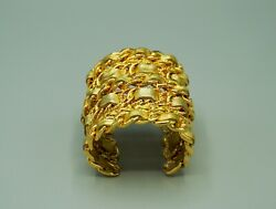 Gold Cuff Fashion Accessory, Pre-owned, Very Good Condition, Vintage 90s