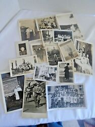 15 Vintage Photo Lot Photograph Groups And Single Old Snapshots 1935 1 Postcard
