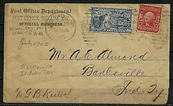 1905 Nevada, Mo Po Dept. Official Sp. Del. Cover, Bartlesville Indian Territory