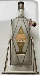 Gilbeyand039s Gin One Gallon Bottle Giant Vintage Rare. With Stand Tilt Pour Spout