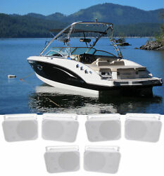 6 Rockville Hp65s 6.5 Marine Box Speakers With Swivel Bracket For Boats