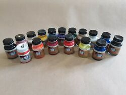 Pactra Testors Paint Set Acrylic - 17 Large Bottles - New And Fresh
