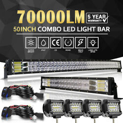 5d 50inch Led Offroad Light Bar Combo+ 22+4 Pods Suv 4wd Ute For Ford Jeep 52