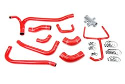 Hps Red 3-ply Reinforced Silicone Radiator Coolant Hose Kit 57-2069-red