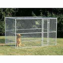 Midwest Homes For Pets Chain Link Portable Kennel With Sunscreenw