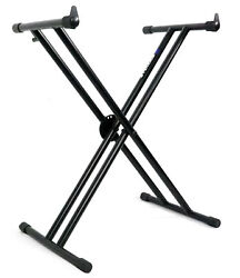Rockville Double X Braced Keyboard Stand W/push Button Lock For Casio Ct-x5000