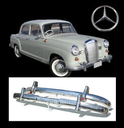 Brand New Mercedes Ponton W120 W121 4 Cyl 53-59 Stainless Steel Bumpers