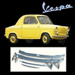 Brand New Vespa 400 Stainless Steel Bumpers