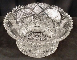 Outstanding Signed Hawkes American Brilliant Centerpiece Bowl Ca. 1880-1900 Mg