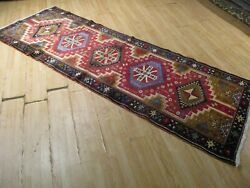 10 Feet Runner Hand-made-knotted Wool Rug 582935