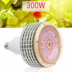 300w Led Grow Light E27 Warm Full Spectrum Bulb For Indoor Hydroponic Plant Lamp