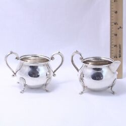 1883 F.b. Rodgers Silver Co. Sterling Silver Creamer And Open Sugar Bowl Both 136