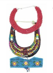 Five-piece Southwestern And Native American Beaded Necklaces