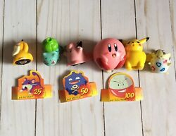 Vintage Pokemon Rolling Tops Figures Toys Mixed Lot Of 5 Collectible Cl