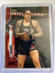 2020 Topps Ufc Amanda Nunes Red Parallel Base Card 8/8 Last One Made Rare 1of1