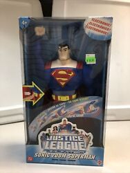 Mattel Justice League Unlimited Sonic Zoom Superman Electronic Light Sound 2005