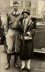 Charles Lindbergh And Wife Underwood Real Photo Card - Postcard Size