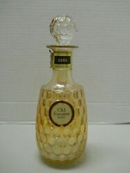 Old Forester Bourbon Whiskey Holiday Decanter Bottle 1967 Carnival Glass Empty