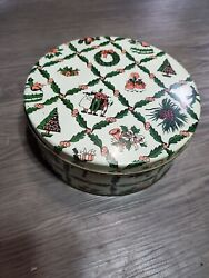 Black Americana Ace Christmas Tin 7 1/4 X 2 7/8 50and039s / 60and039s No Zip Code