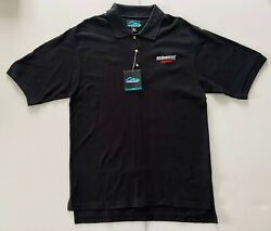 New W/tag Bf Goodrich Tires Racing Menand039s Medium Embroidered Black Polo Shirt