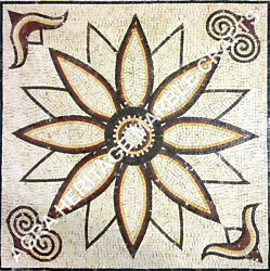 36 Marble Coffee Dining Table Top Mosaic Inlay Work Outdoor Hallway Decor E928