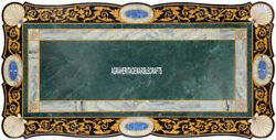 Marble Big Dining Table Top Pietra Dura Real Inlay Occasional Patio Decor H3866