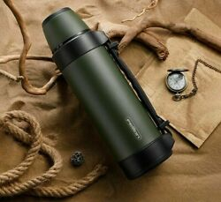 Travel Portable Thermos Large Cup Mugs Coffee Tea Stainless Steel Water Bottles