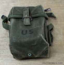 Rare Vietnam Short 20rd Case Small Arms M16a1 Rifle Ammo Pouch Canvas M1956