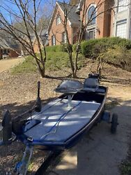 John Boat With Long Tail Motor And Two Standing Platforms. 12ft