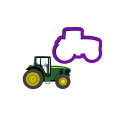 Birthday Farmer Tractor Cookie Cutter Polymer Clay Fondant Baking Craft Cutters