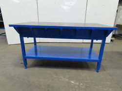 1-1/2 Thick Webbed Cast Iron Lay Out/jig/welding/work Table Bench 72x36x38