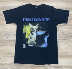 Vintage 1998 Taco Bell Chihuahua Dog I Think I'm In Love Black T-shirt Sz. Large