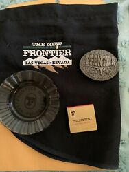 New Frontier Hotel Casino Lot, Dealer Apron, Ashtray,matches ,belt Buckle,tokens
