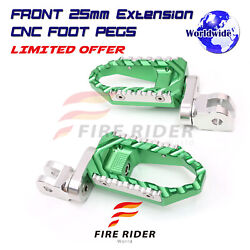Cnc 25mm Lowering Front Large Foot Pegs For Ex650jhf Ninja 650r Z900 Z650 Z900rs
