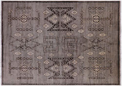 6and039 6 X 9and039 Navajo Hand Knotted Wool Area Rug - Q4555