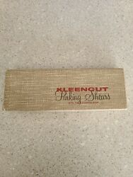 Rare Vintage Kleencut Pinking Shears W/ Automatic Stop