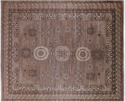 9and039 5 X 11and039 6 Khotan Hand-knotted Wool Rug - Q6509