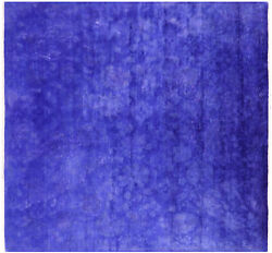 Square Overdyed Full Pile Wool Rug 7and039 9 X 8and039 - Q6515