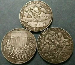 German Medals Exonumia Tokensfrom The Series Events Of The Ww2set Of 3 Pcs