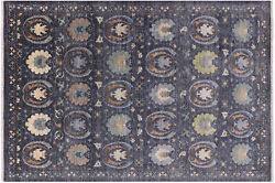 William Morris Hand Knotted Wool Rug 6' 1 X 8' 10 - Q8477
