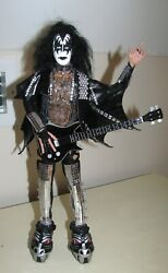 Kiss Gene Simmons Love Gun 1/6 Figure Scale 12 Doll W/1977 Guitar And Strap