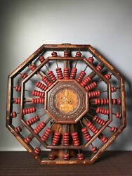 19 Antique Old China Rosewood Guanyin Set Red Coral Abacus Asian Collections