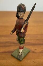 Antique John Hill And Co Sottish Regiment Articulated Lead Soldier Britains