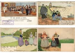 Cpa Cassiers H. Artist Signed, Mostly Belgium Netherlands 100x Postcards L3191