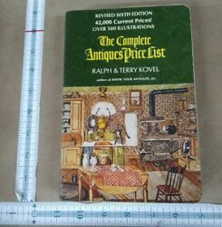 Sixth Edition The Complete Antiques Price List Kovel 1973 Illustrated
