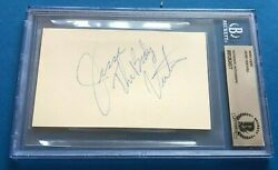 Jesse The Body Ventura Signed Index Card - Beckett Authenticated Bas