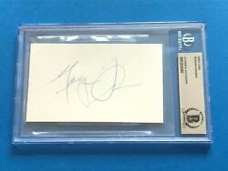 Morgan Freeman Signed Index Card - Beckett Authenticated Bas
