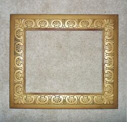 Art Deco Picture Frame For Portrait Painting Print Mirror Hand Carved Wood Gold